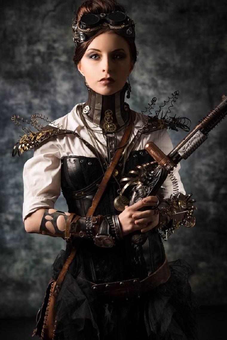 traje a la moda steampunk