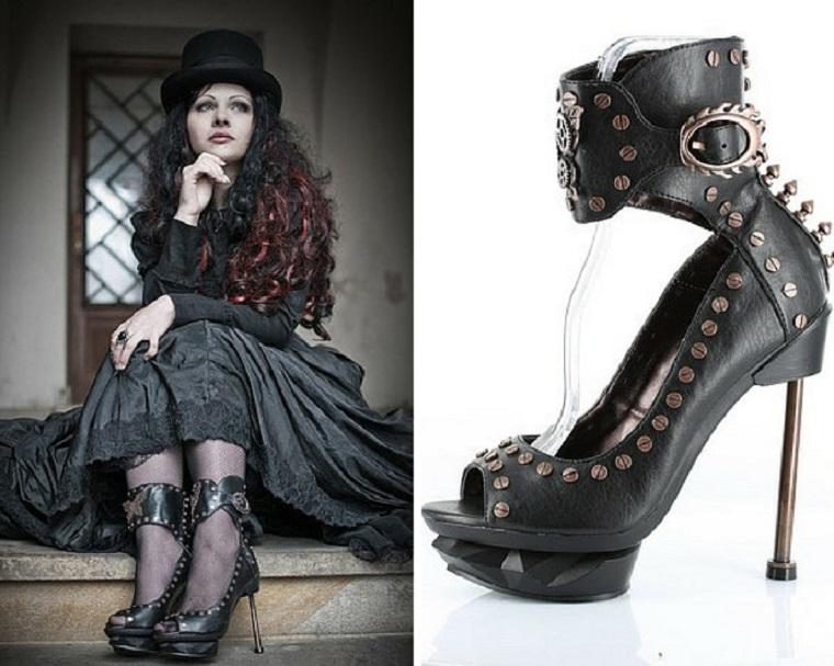 zapatos a la moda steampunk