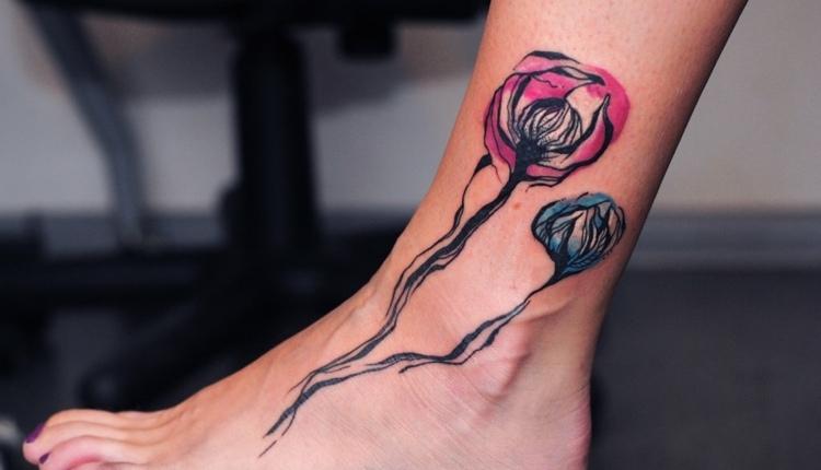 flores-acuarela-pie-tatuaje-original