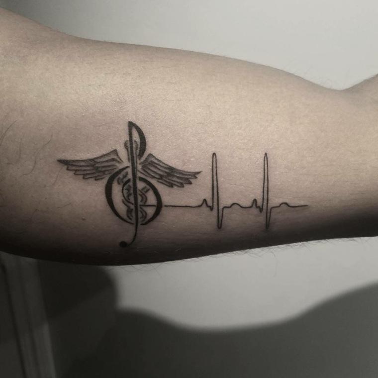 fotos de tatuajes-combinacion-musica-medicina