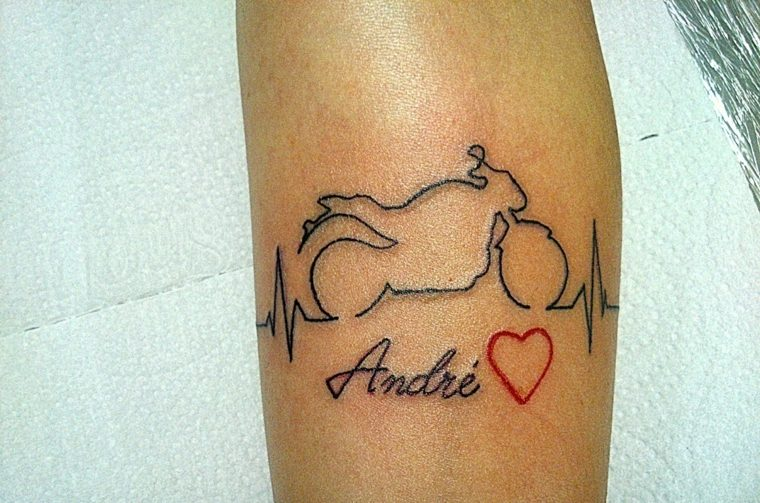 fotos de tatuajes-latido-corazon-moto