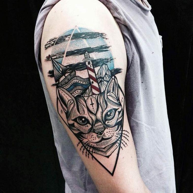 originales diseños de tatuajes de geometría