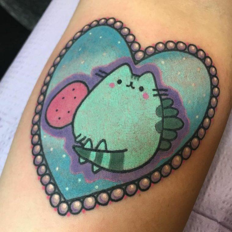 tatuaje kawaii gatito