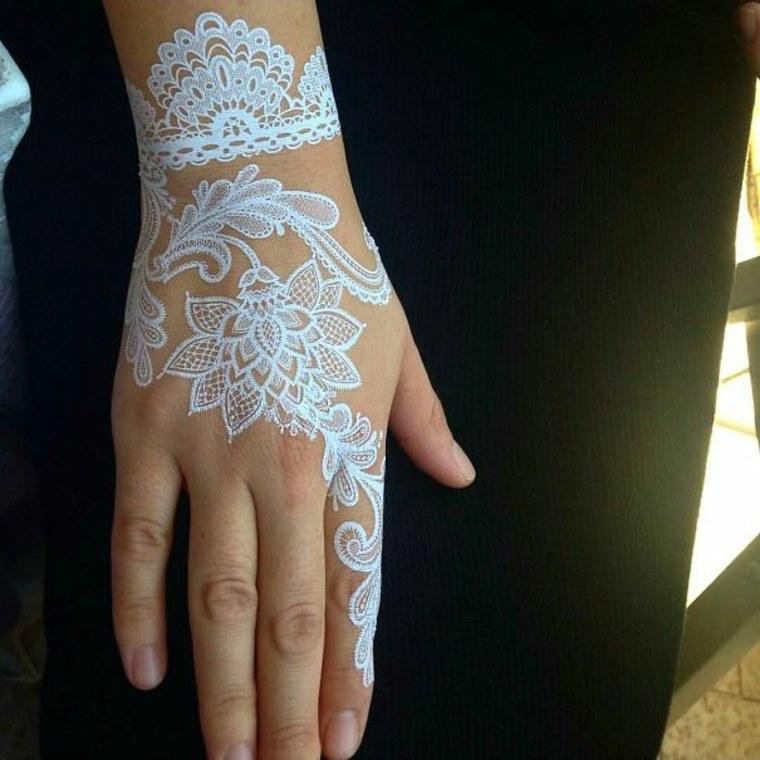 tatuajes de henna blanca