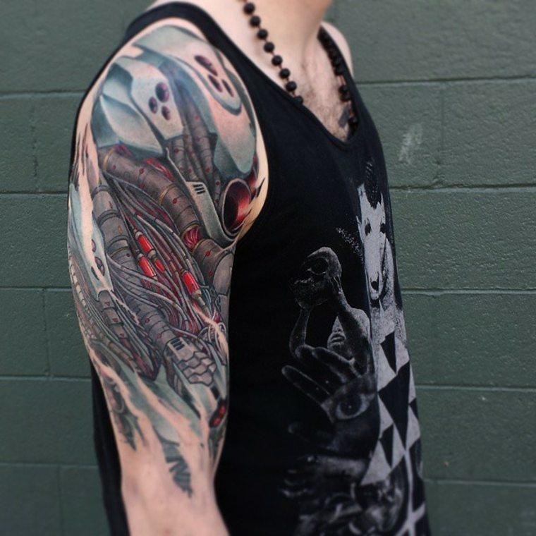 diseño de tatuaje en el hombro