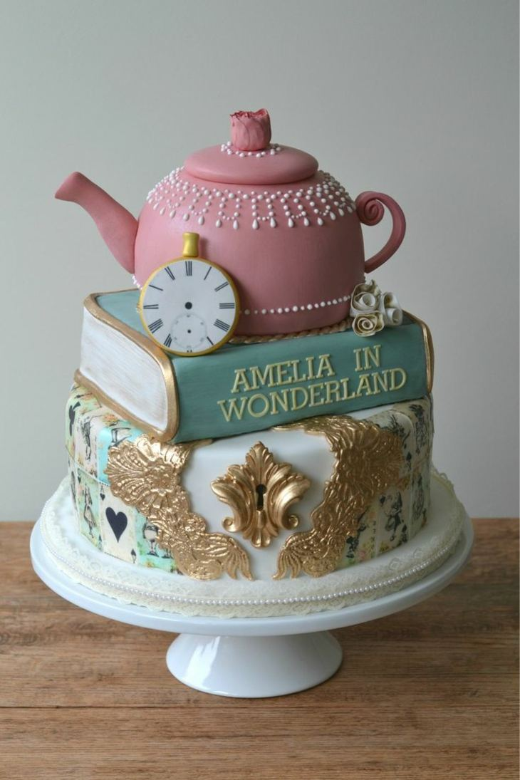 idea torta cumpleaños moderna salones