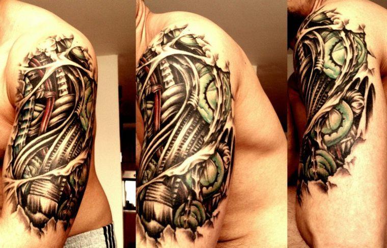 original diseño de tatuaje en el hombro