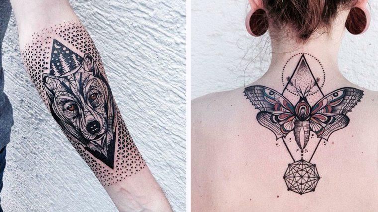 estupendos diseños de tatuajes de geometría