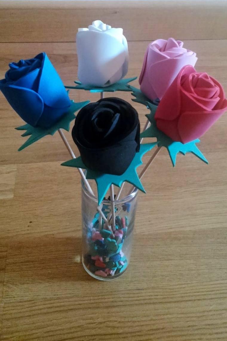 inspiraciones florales goma eva