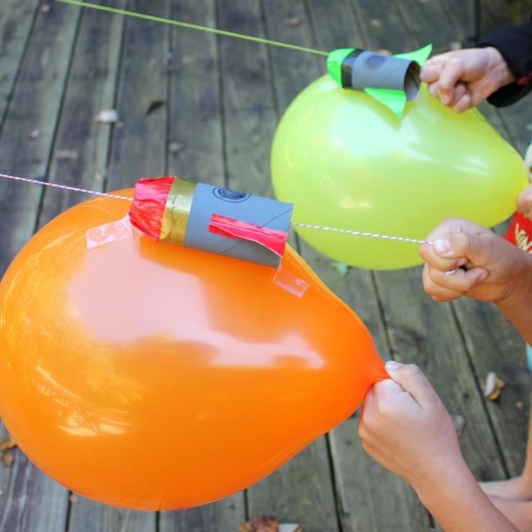 cómo hacer el experimento del globo cohete