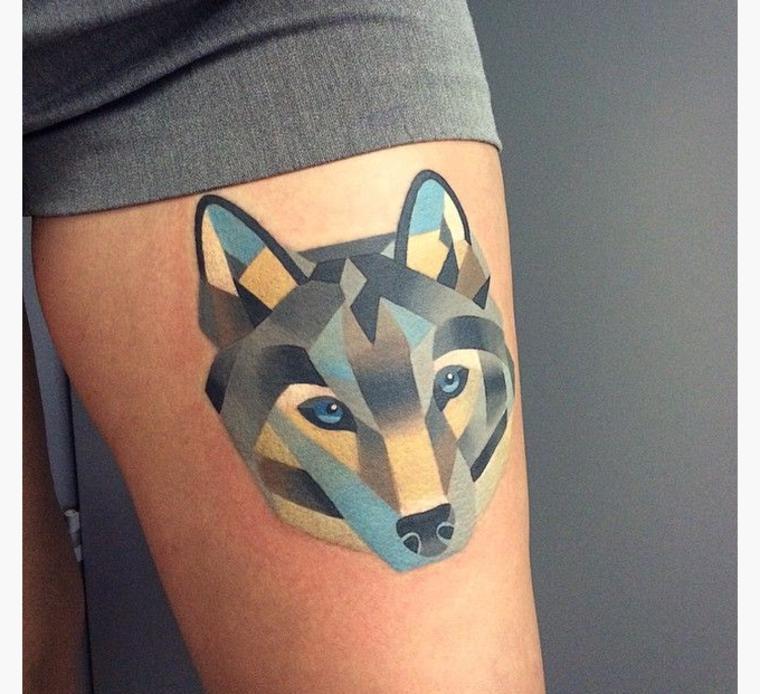 tatuaje de lobo