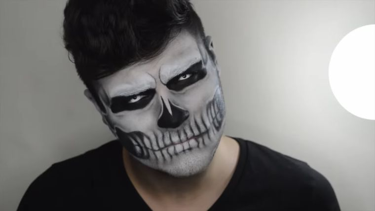 maquillaje halloween hombre-angel-muerte