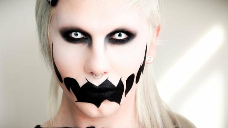 maquillaje halloween mujer interesante
