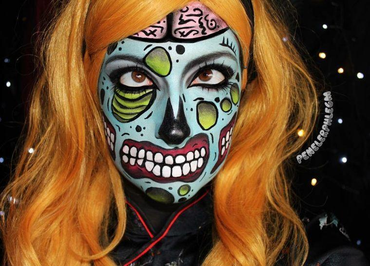 maquillaje halloween mujer loco
