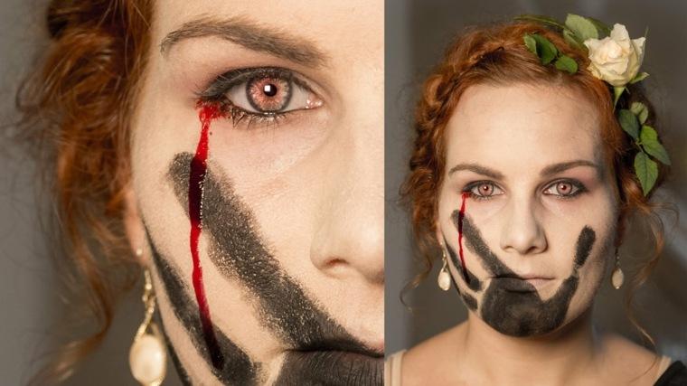 maquillaje halloween mujer moderno original
