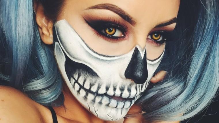 maquillaje halloween mujer zombies