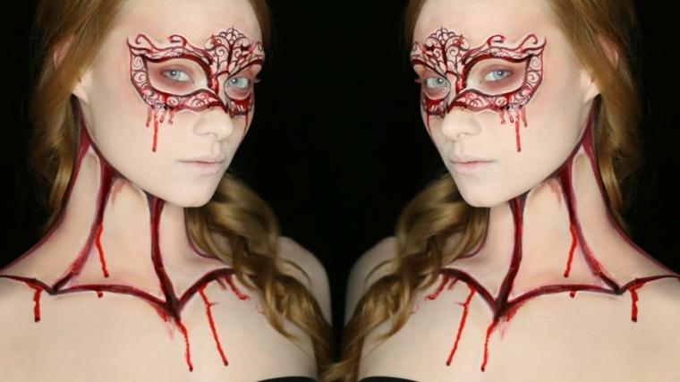 maquillaje halloween mujer moderno