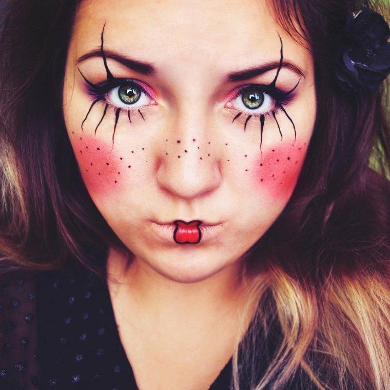 maquillaje halloween muneca