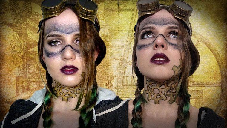 maquillaje y accesorios steampunk