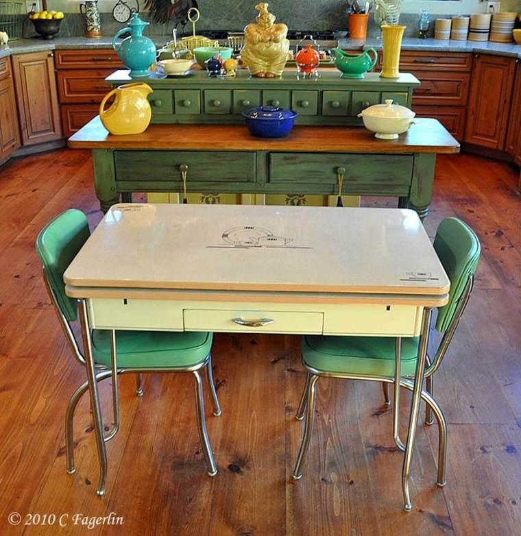 diseño de mesa de estilo vintage