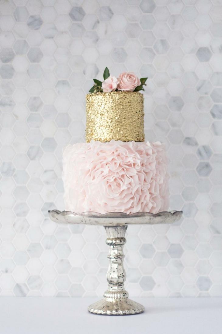 mesas dorados torta fantastica