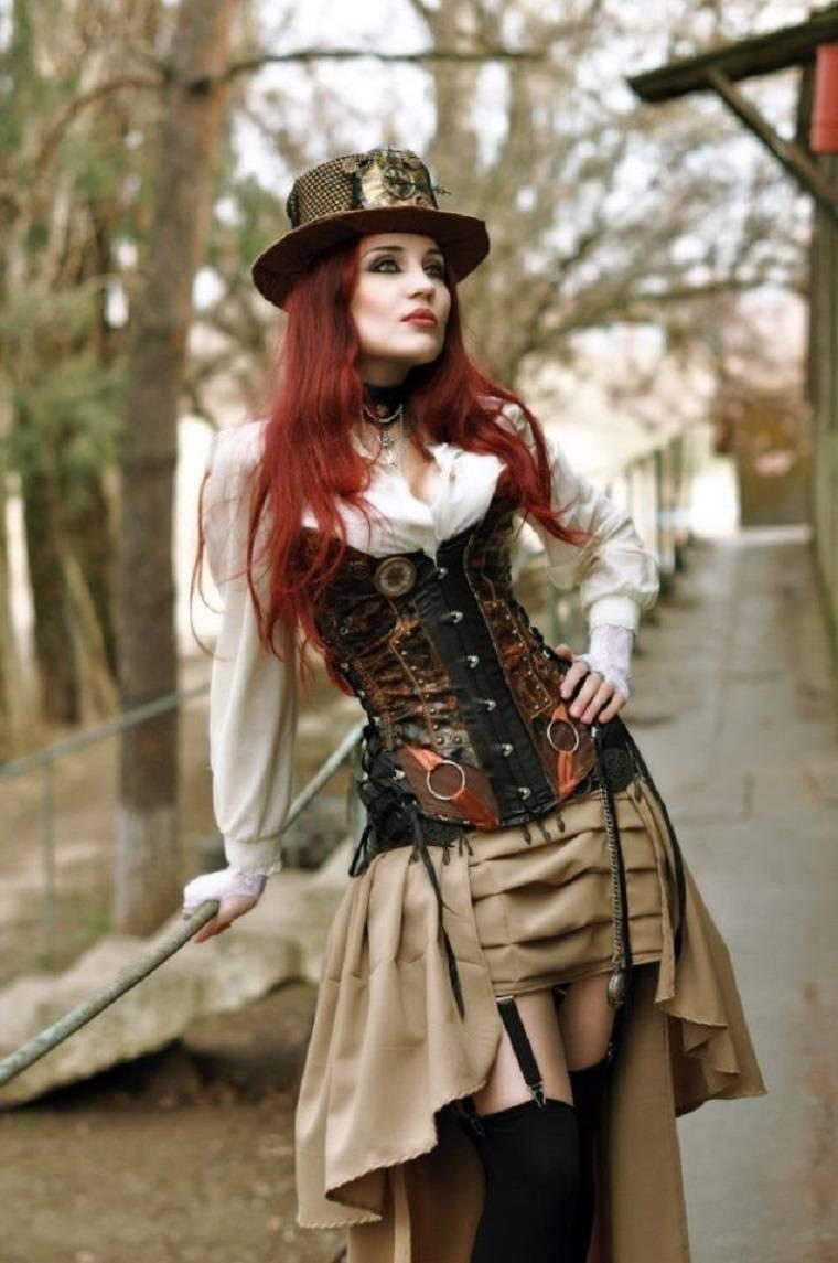 traje y accesorios steampunk