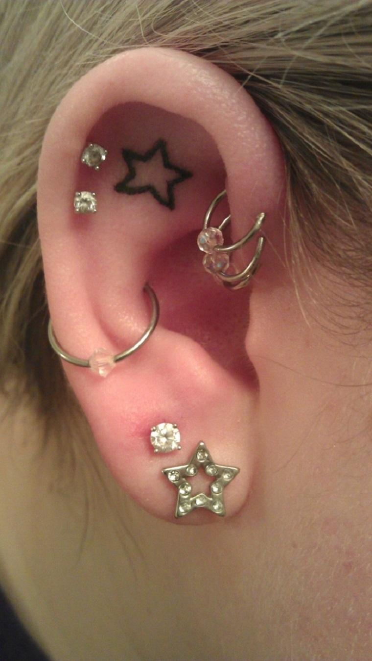 estrella en la oreja