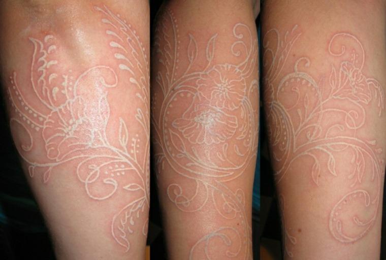 tatuajes de tinta blanca