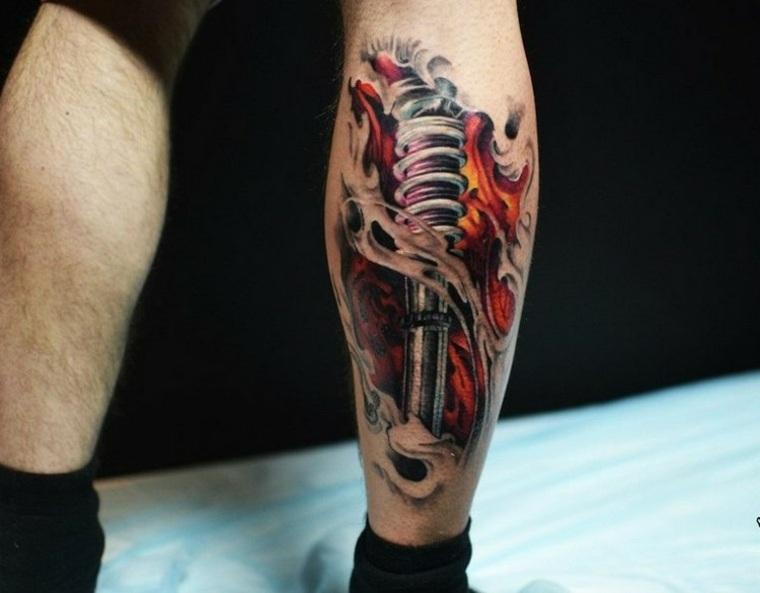 Tatuajes Biomecanicos Con Motivos De Robots En 3d