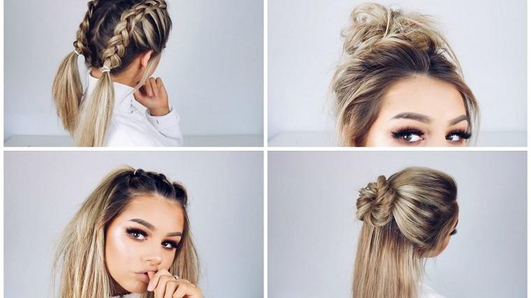 peinado sensillo creativo moderno