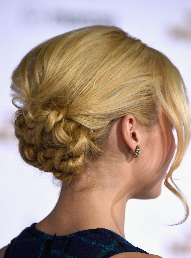 peinados con trenzas pelo recogido