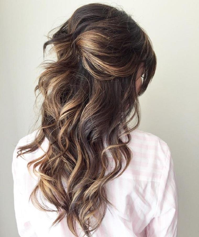 peinados de boda semi recogido