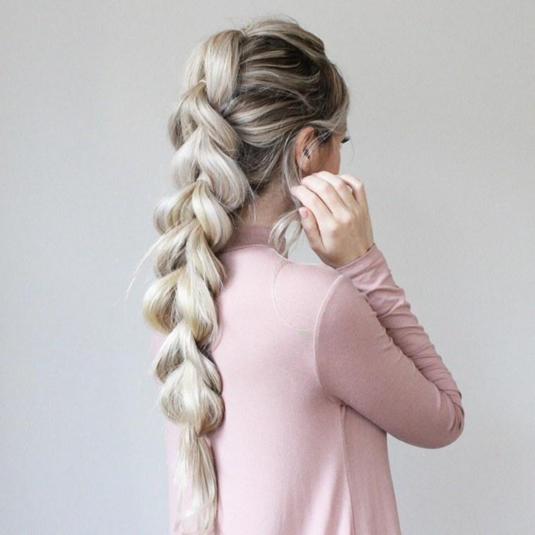 peinados faciles ideas trenza larga