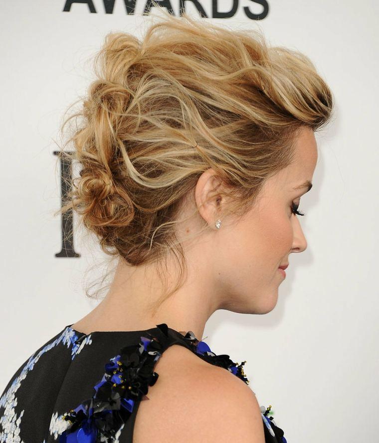 Peinados para bodas pelo corto-recogido