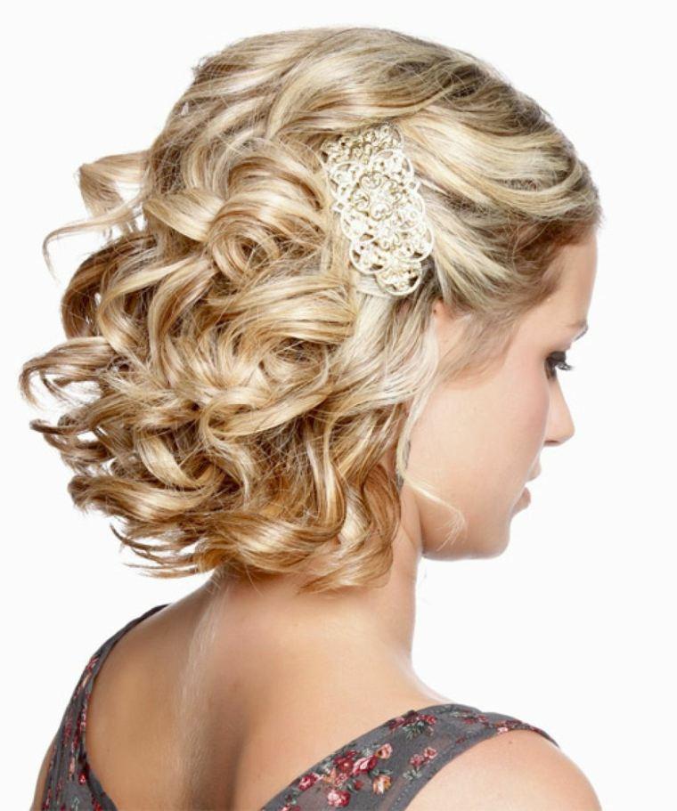 peinados para bodas pelo corto-rizado-estilo