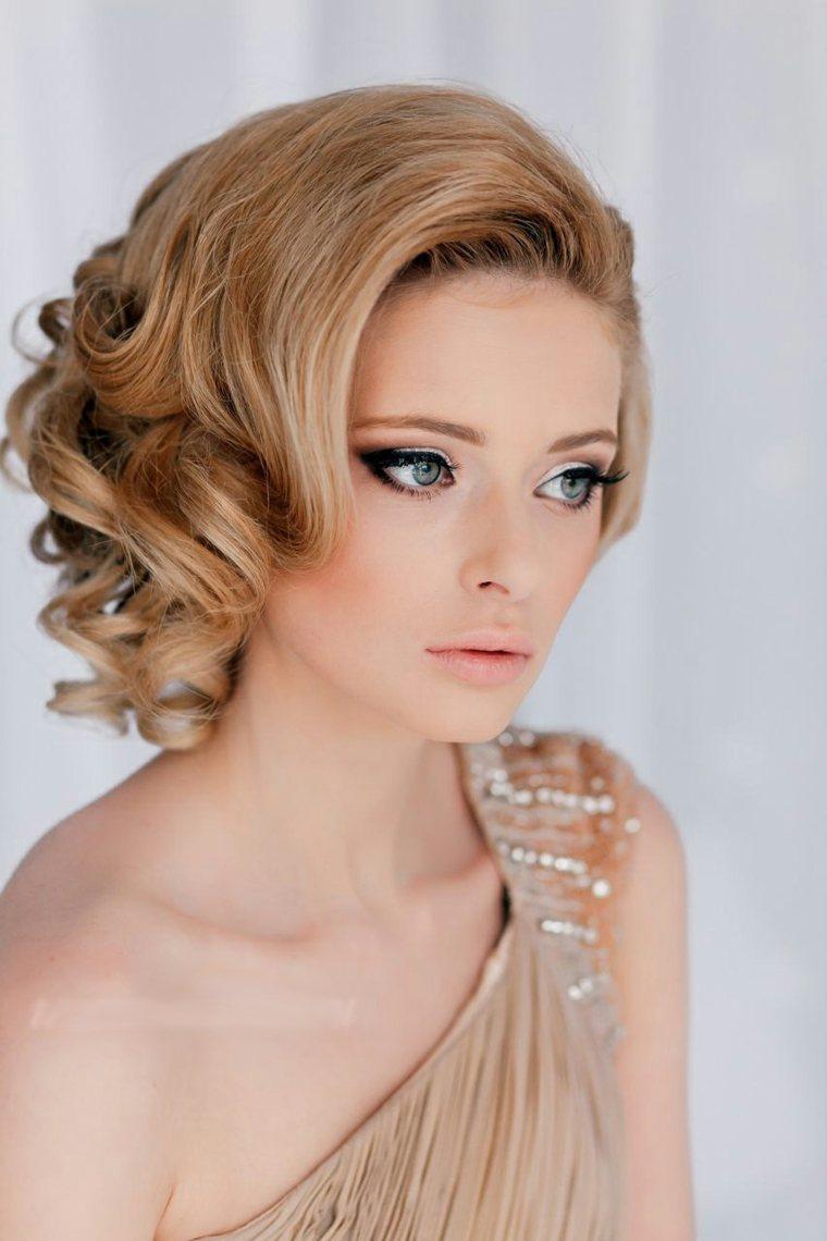 Peinados para bodas pelo corto-rizado