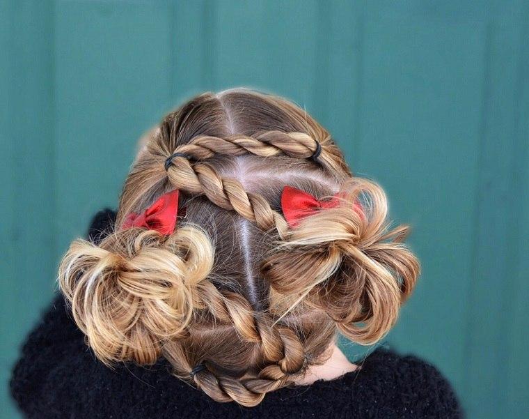 peinados para niñas-trenzas-opciones