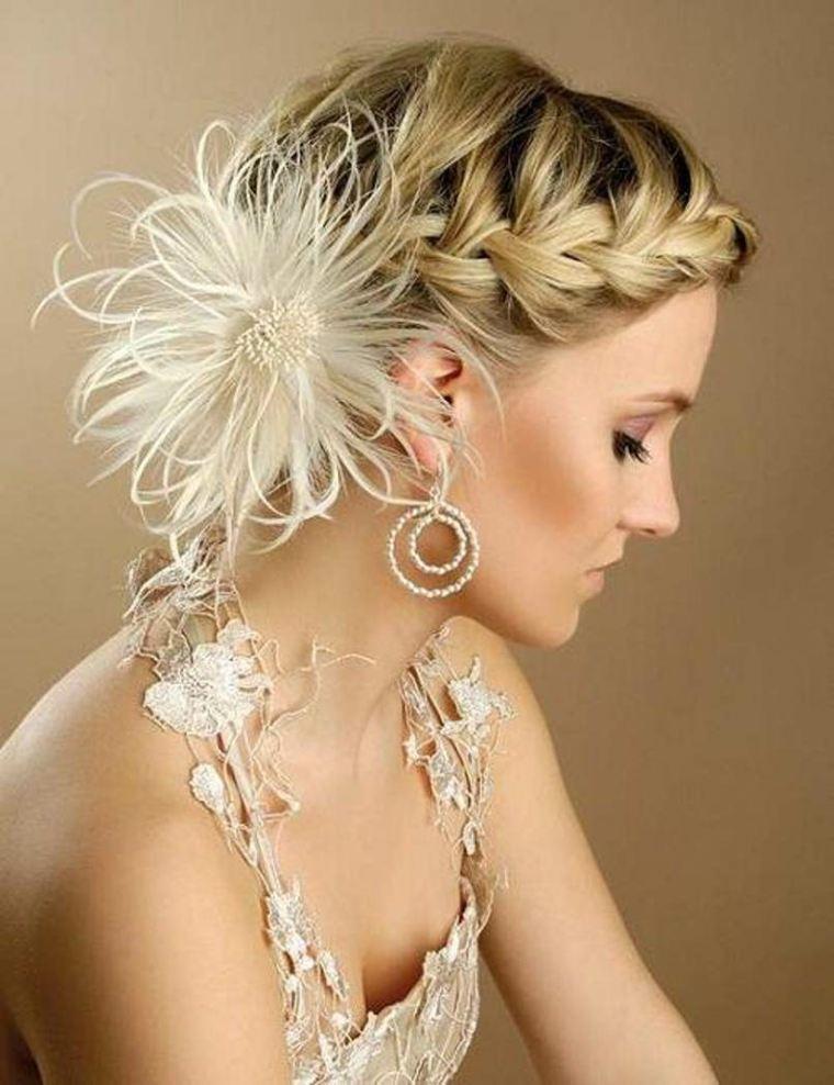 Peinados Para Bodas Pelo Corto E Ideas Para Decorar El Cabello - Peinados-para-novias-pelo-corto