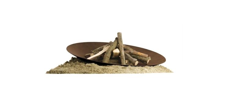 plato fuego moderno elegante