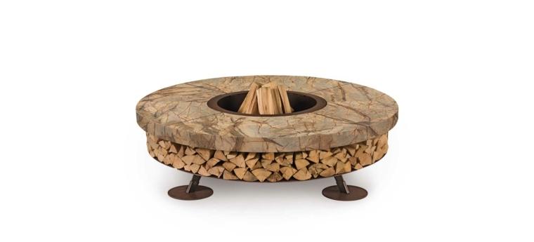 plato marmol capacidad leña chimeneas