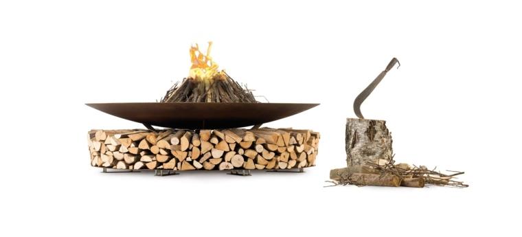 pozo de fuego moderno leña salas