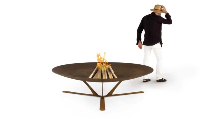 pozo de fuego moderno minimalista