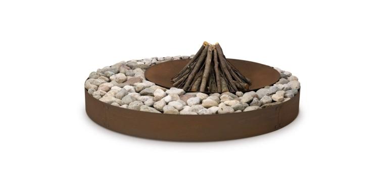 pozo de fuego moderno rocas parte alta