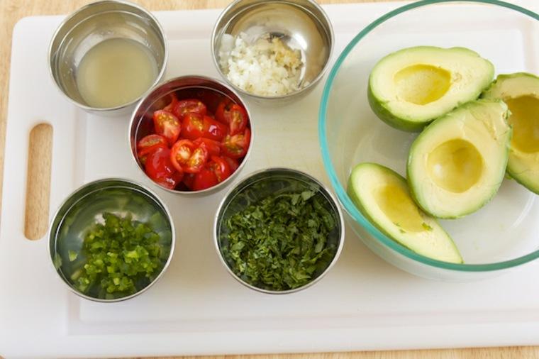 ingredientes para salsa guacamole