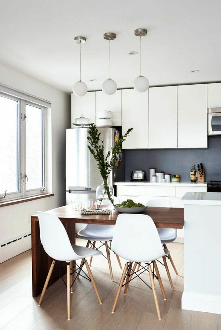 Mesas de cocina modernas y sofisticadas para todos los for Mesa cocina moderna