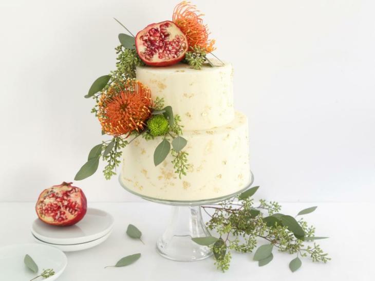 tartas de cumpleaños combinadas plantas