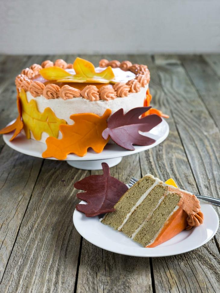 tartas de cumpleaños otoñal fiesta