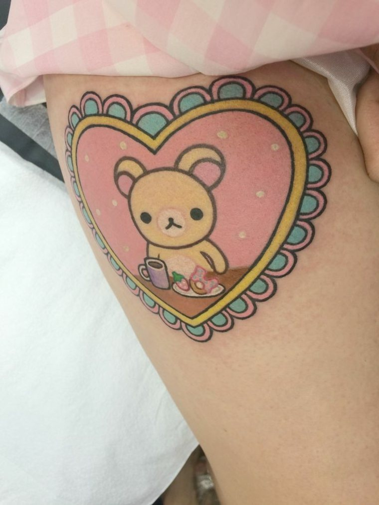 estupendo tatuaje kawaii