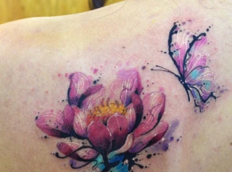 tatuajes-colores-brillantes-mariposas