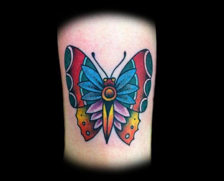 tatuajes con mariposas brazo mujeres